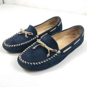 Vera Wang Suede Driver Loafers Shoes Moccasins